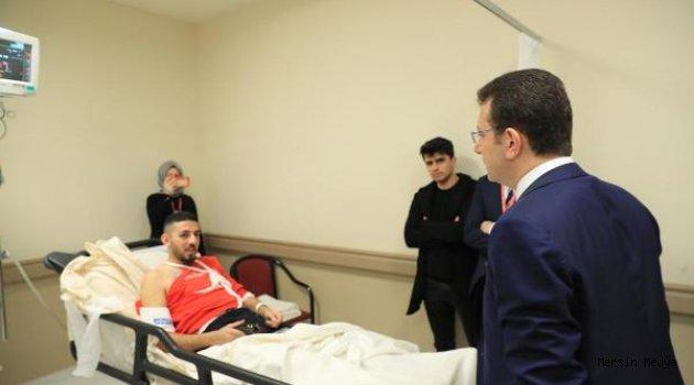 """İMAMOĞLU'NDAN KAZAZEDELERE """"GEÇMİŞ OLSUN"""" ZİYARETİ"""