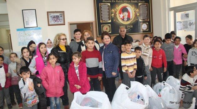 MEZİTLİ ''ALEVİ KADINLARINDAN OKULLARA GİYİM VE KIRTASIYE YARDIMI''
