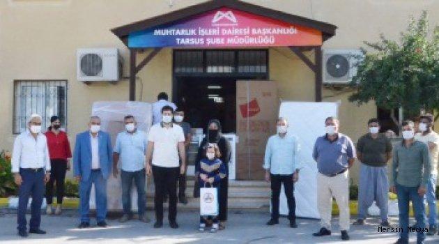 TARSUS'DA EVLERİ YANAN AİLELERE BÜYÜKŞEHİR'DEN EŞYA DESTEĞİ