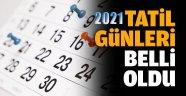 2021 YILI TATİL GÜNLERİ BELLİ OLDU, KURBAN BAYRAMI TATİLİ 9 GÜN